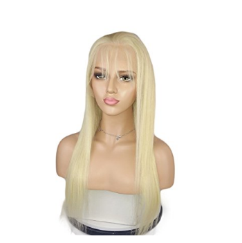 Top Quality Chinese Virgin Remy Human Hair 613 Color Natural Straight Lace Front Wig