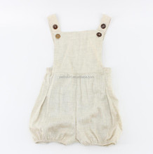 Newborn baby jumpsuit boys toddler linen bubble romper for kids wholesale baby leotards boys romper