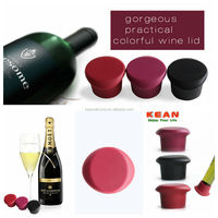 Silicone Rubber Wine Bottle Stopper/BPA Free Portable Silicone Wine Stopper Rubber Wine Bottle Stopper