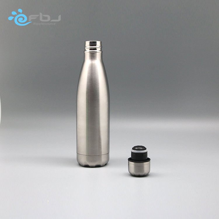Cheap Hot Sale double wall stainless steel vacuum flask inner copper coating tritan water coke bottle