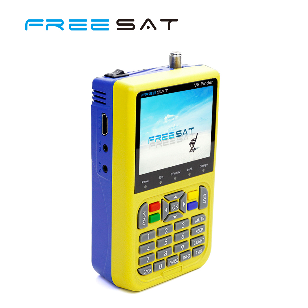 Freesat V8 Finder Handheld 3.5inch DVB-S2 DC 12V FTA Decoder mpeg-4 satellite finder meter