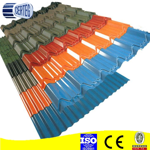 Corrugated Ppgi Steel Metal Iron Roofing Sheet In Ral
