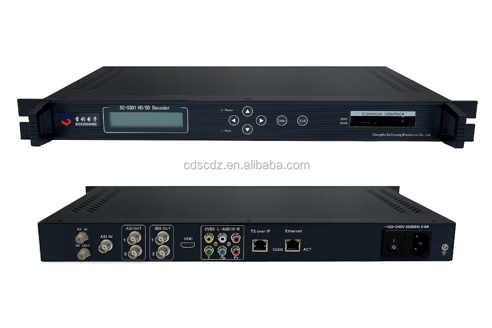 SC-5301 DVB-S/S2 SD/HD Decoder