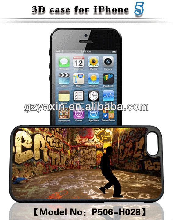 For iphone case with customized 3d image,Custom protective PC creative bumper 3d phone case for iphone 5