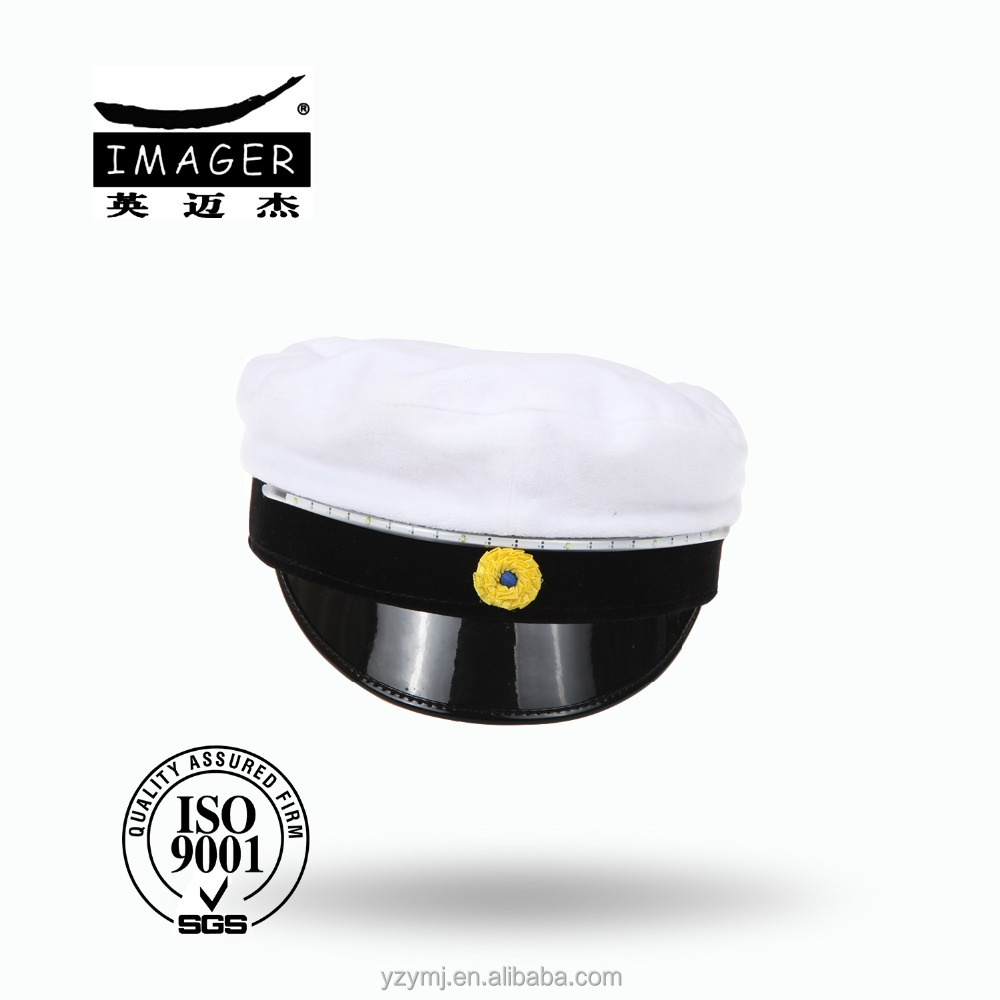 Fashionable military student cap hat with wool material