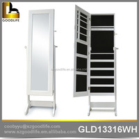 Contemporary floor standing jewelry organizing cabinet for girls