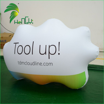 Hanging Cloud Inflatable / Helium Custom Made Shape Balloons / Cloud Shape Flying Balloon Custom