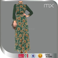2016 New Model Islamic Abaya In Dubai New Design Print Islamic Baju Kurung For Women