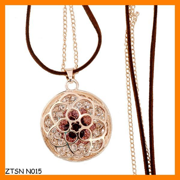 Fashion Rhinestone Flower Lady Sweater Chain Wholesale ZTSN N015
