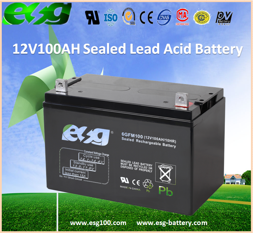 12V100AH UPS/Industrial Meters Full Capacity Rechargeable SLA Battery
