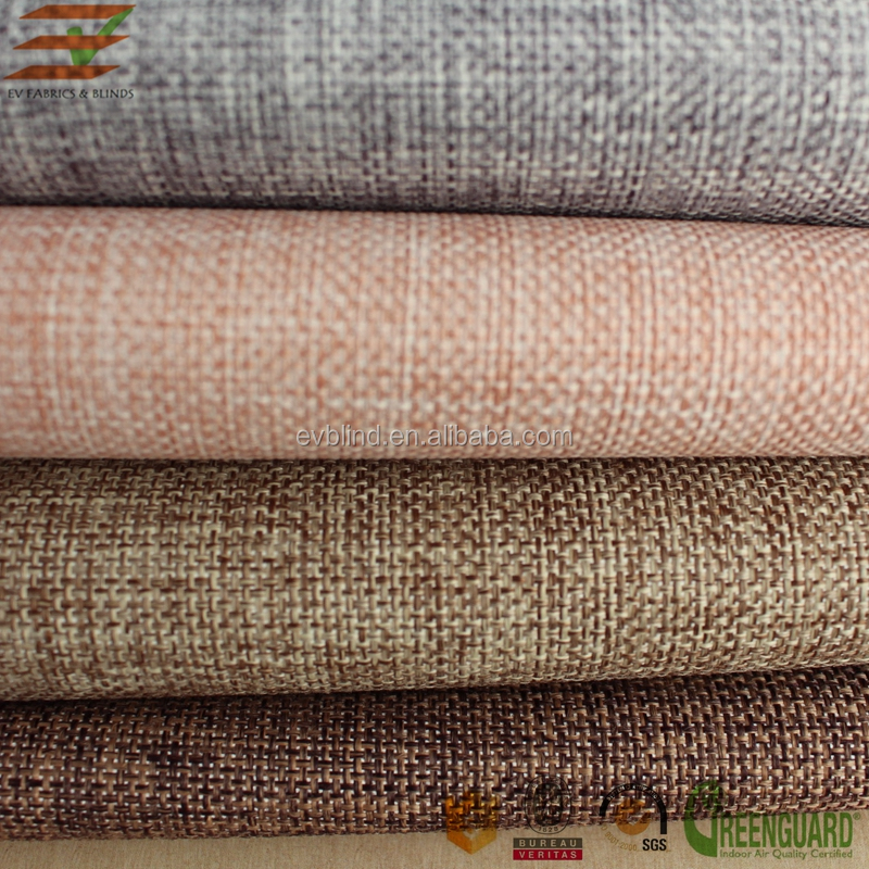 Decorative jute material blinds shades