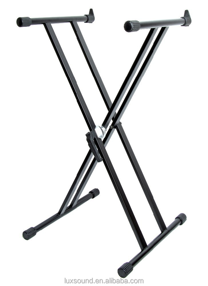 LONG ARM quick released double x style keyboard stand