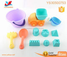 Wholesale plastic summer beach toy car with sand molds