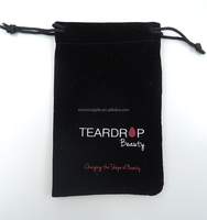 "3x4"" Drawstring Velvet Pouches with Company Logo"
