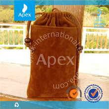 Cheap Velvet drawstring Mobile Phone carry bags for sale