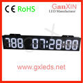 White 8'' 7 segment led light digital countdown