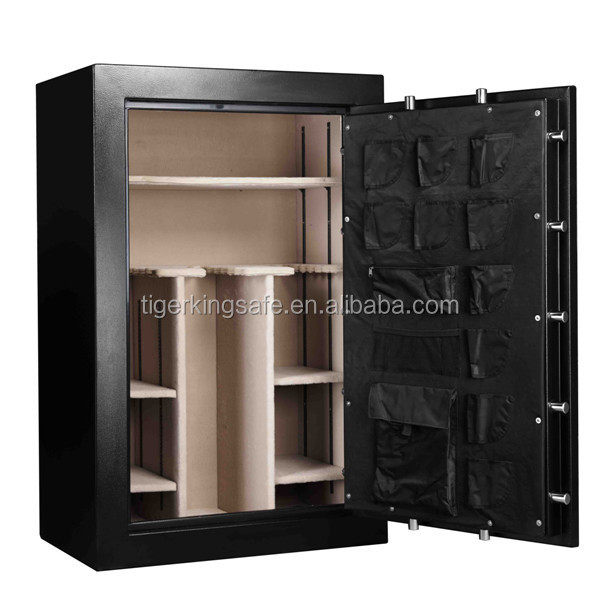 high quality keylock gun safe for guns and weapons with ammo box inside