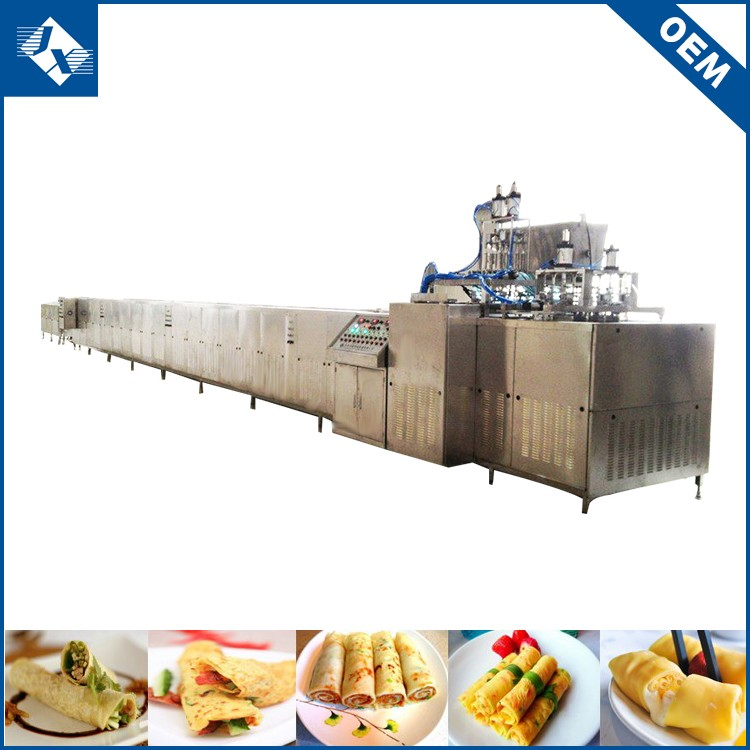 OEM orders acceptable efficient automatic egg crepe making machine