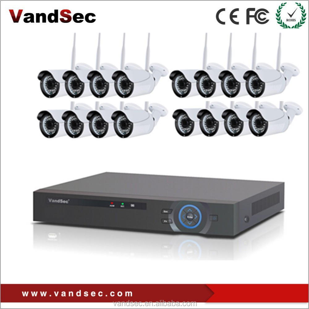 Vandsec Top10 16 CH NVR Kit Security Camera System Outdoor CCTV Camera Bullet Network 16 CH Wifi Wireless Camera System