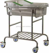 Hospital Beds Stainless Steel Tiltable Infant Bed Wheels B-36