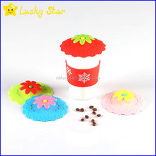 Sun Flower Silicone coffee mug lid ceramic cup cover