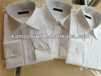 High quality mens white non iron dress shirt wrinkle free for Non wrinkle dress shirts