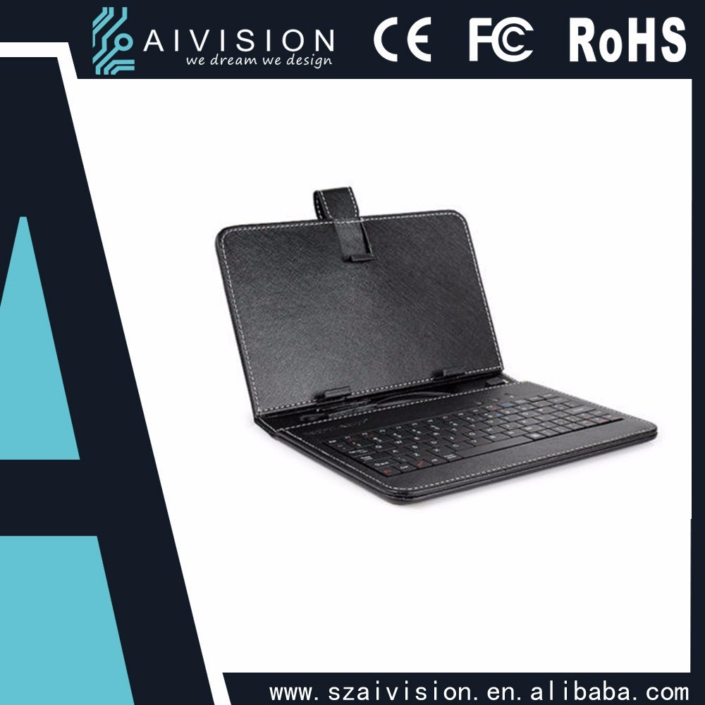 7 inches tablet pc keyboard leather case USB Keyboard Stand Cover Case
