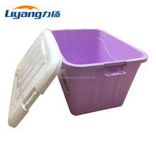 Cute Household Storage Box Plastic Home Storage Container with Lid