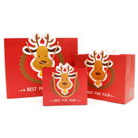red printing paper candy bag with logo hot stamping