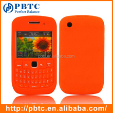 Case For Blackberry 8520 / 9300 , Orange Silicone Smartphone Keyboard Case