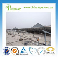 Flat Roof Solar Mounting System/C-type Steel Triangle Solar Mounting Bracket/Solar Panel Mounting Structure