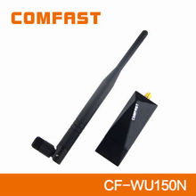 Cool-Black 150Mbps High Speed USB Wireless Adapter with 6dBi external antenna COMFAST CF-WU150N