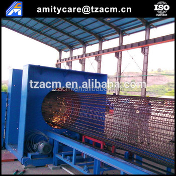 (manufacture) concrete pile automatic wire cage welding machine