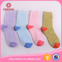 Cheap custom made women cotton knitted socks wholesale China socks factory