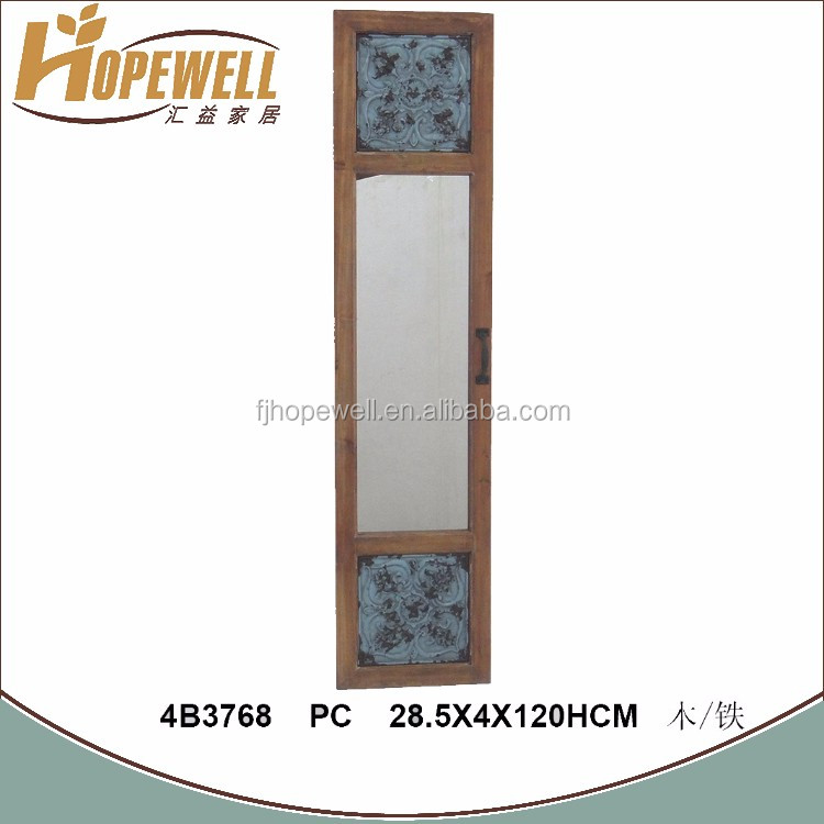 wood frame stand mirror , furniture density with a mirror
