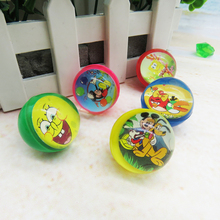 Promotional high bouncing ball with paper card inside clear ball
