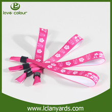 Sublimation printing custom brand name wristbands