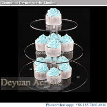 Crystal tiered cupcake stand for weddings