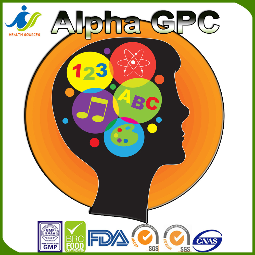 Alpha GPC powder, capsule 90%, 50% Increases Growth Hormone in Athletes
