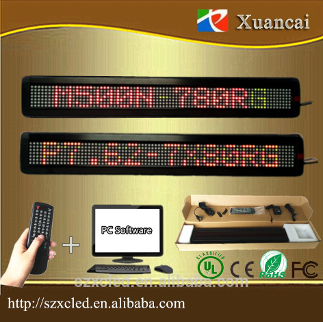 Hot selling programmable Led message display 7x80 red color wifi led board
