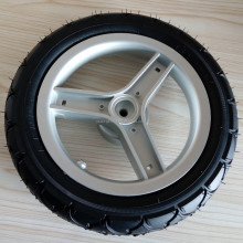 PP Hub and Rubber Solid PU Foam Baby Stroller Tyre