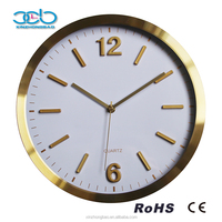 China Factory Directly Sell Watch shape Design Economic Golden Wall Clock