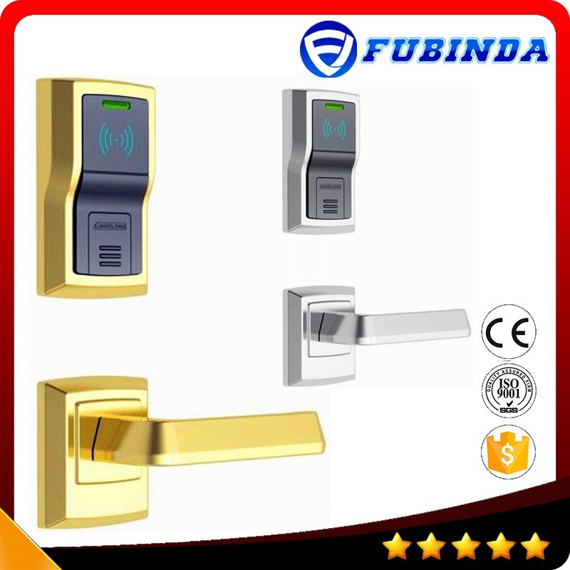rfid card security handle safe electronic hotel smart keyless lockey digital door lock