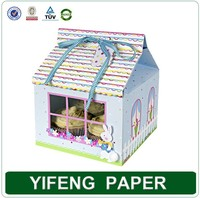 wholesales custom made cheap clear recycled kraft single mini house shape cupcake box