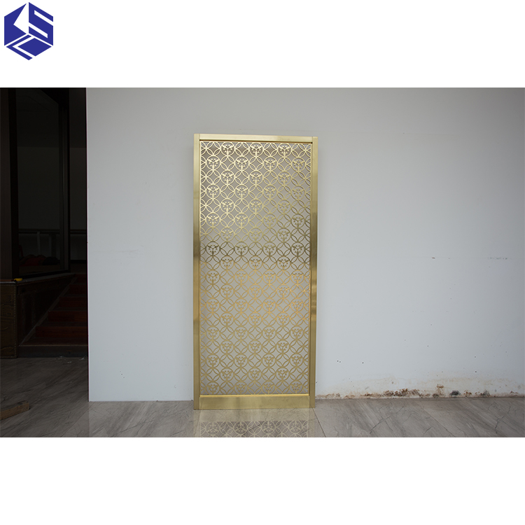 Modern design freestanding metal screen laser cut panel room divider