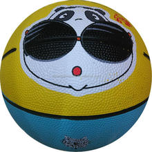 mini colorful rubber basketball print with client's logo and design