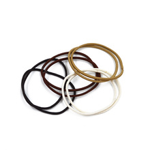 Wholesale fashion 2mm various types of elastic rubber hair bands 20pcs/card