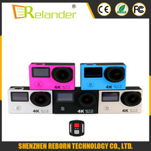 Remote Control HD 170 Lens Waterproof H3R Cam Dual Screen 4K Action Camera