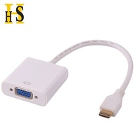 1080P Mini HDMI Male to VGA Female Converter Cable for PS3, Xbox360 HDMI2VGA Adapter