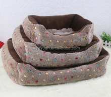 Polar fleece round dog bed/Dog beds with removable cushion